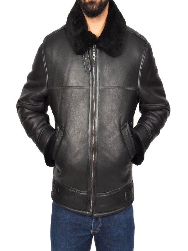 trendy men b3 shearling jacket