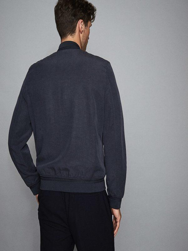 men rib knitted jacket