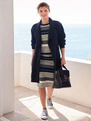 women blue wool coat
