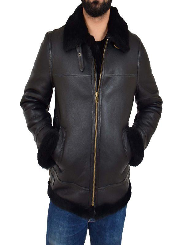 trending aviator shearling jacket