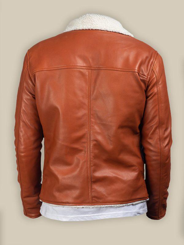 men light brown leather jacket