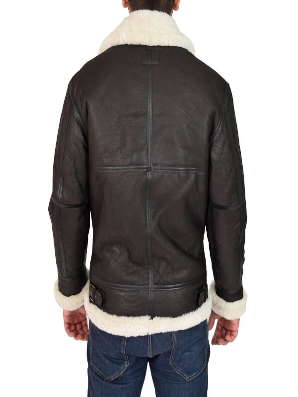 men black shearling jacket