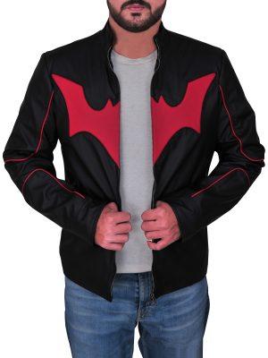 batman beyond leather costume, batman beyond leather cosplay costume,