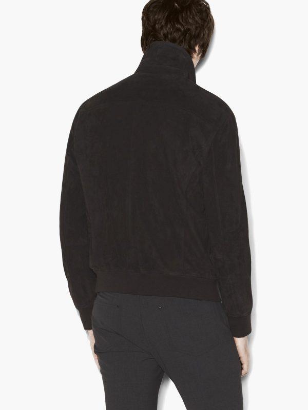 men casual black cotton jacket