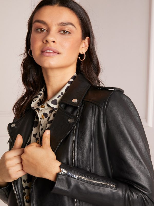 women black biker jacket