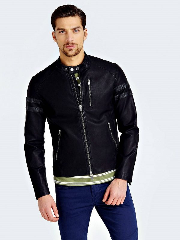 men trendy black jacket