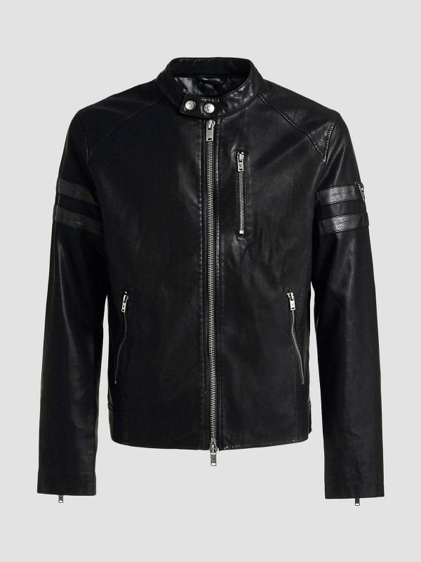 men stylish black jacket