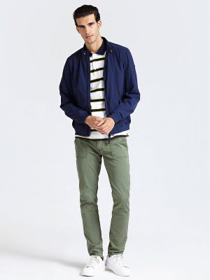 men cotton rib jacket