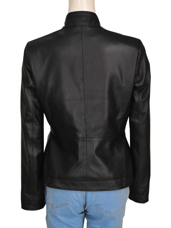mauvetree women black leather jacket, mauvetree women basic black leather jacket,