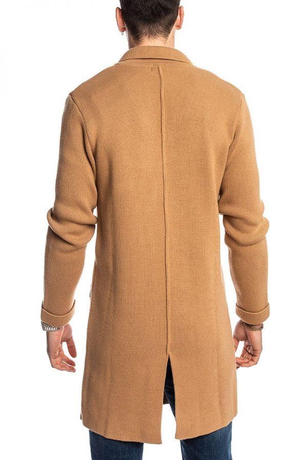 men light brown wool trench