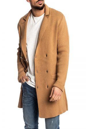 men brown wool trench
