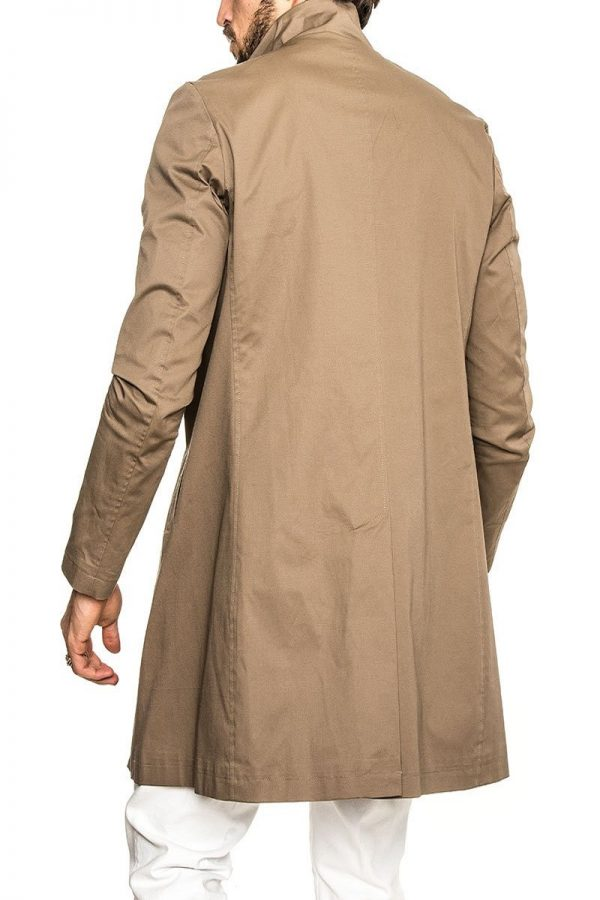 men light brown trench