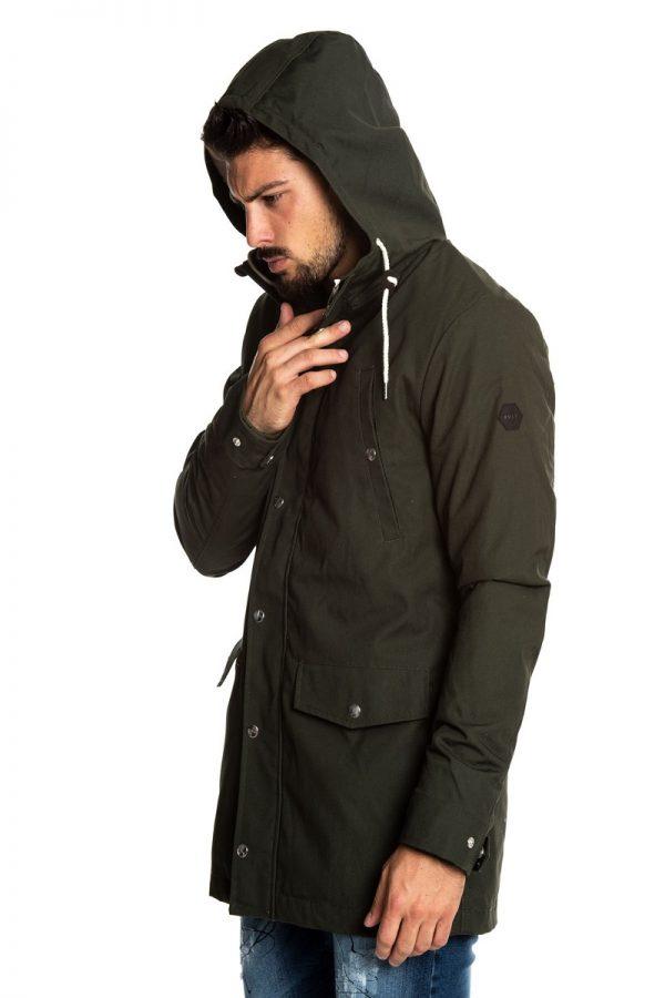men dark green fleece hoodie
