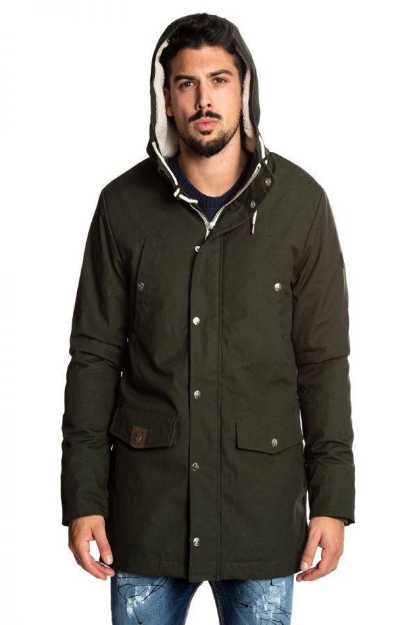 men dark green hoodie jacket