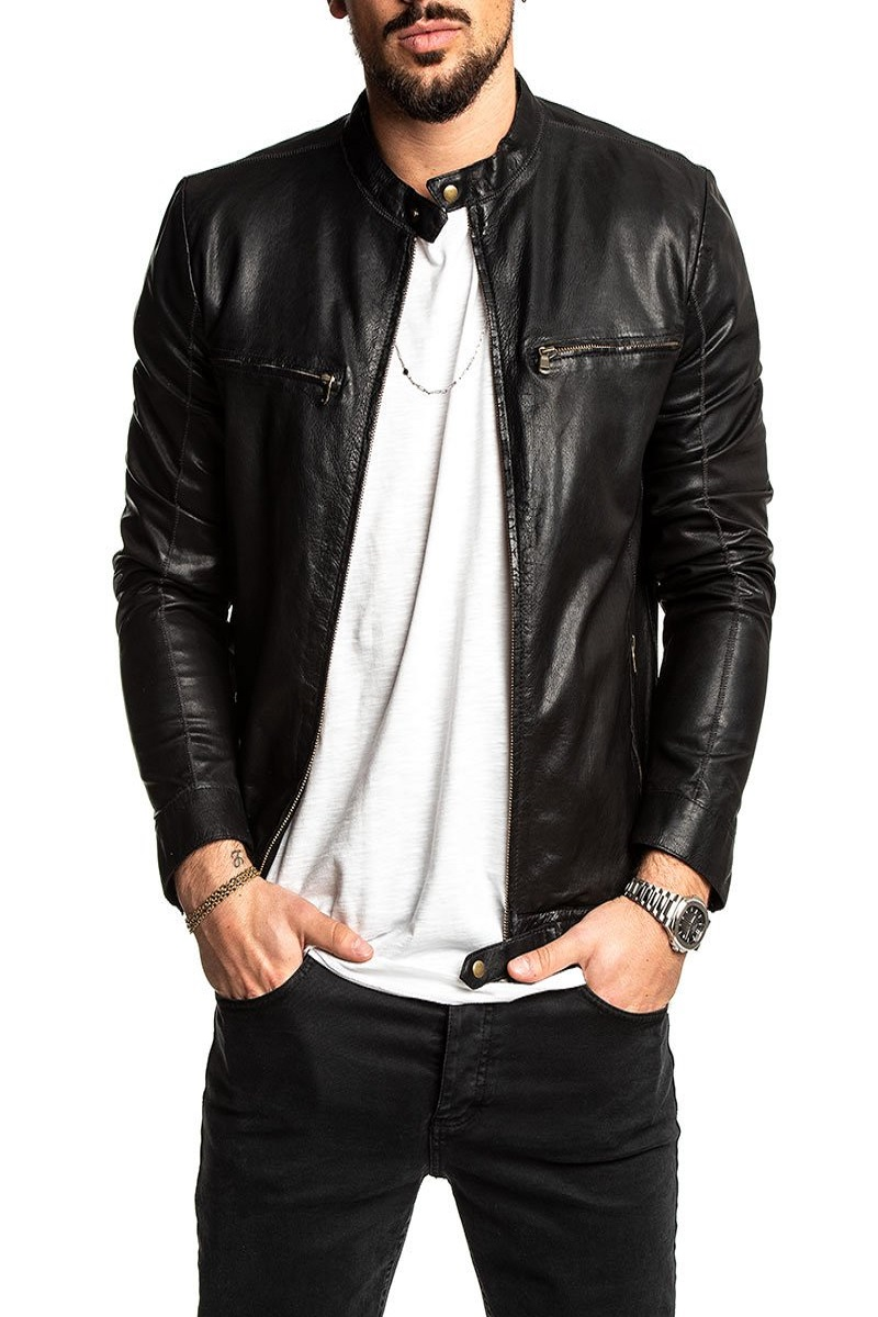 Conflitto Sposarsi chiarezza  Men Dashing Black Leather Jacket - Men Jacket - MauveTree