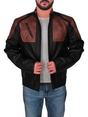 men's black harley davidson leather jacket, black harley davidson leather jacket for men,