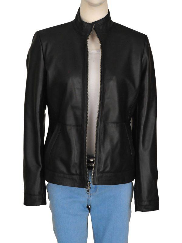 fashionable black women leather jacket, black leather jacket for women,