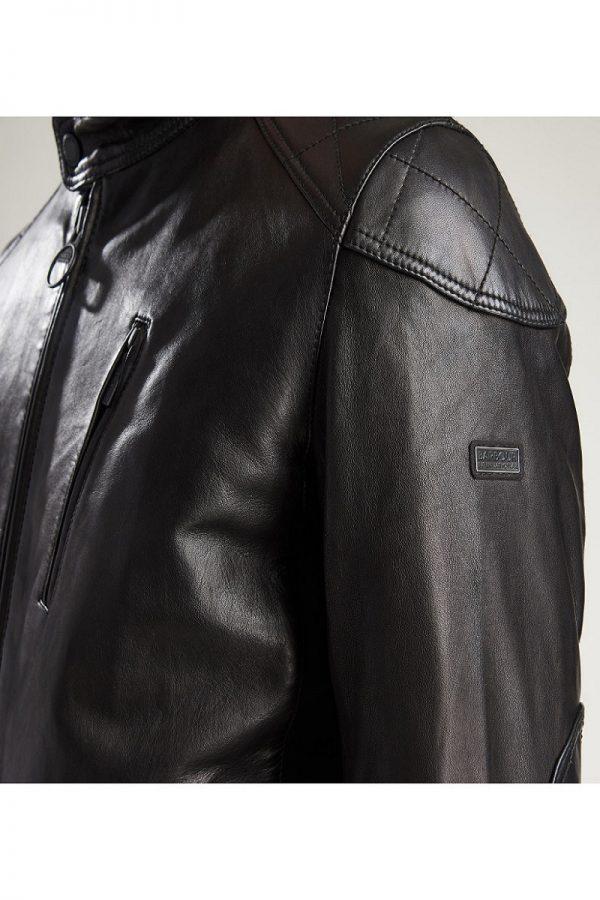 men modern leather jacket