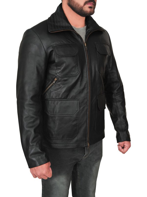 trendy black leather jacket, trending black leather jacket,