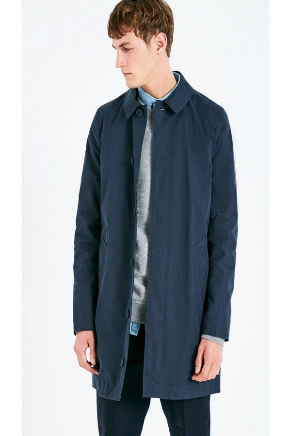 men blue cotton coat