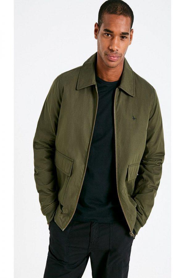 men olive green jacket
