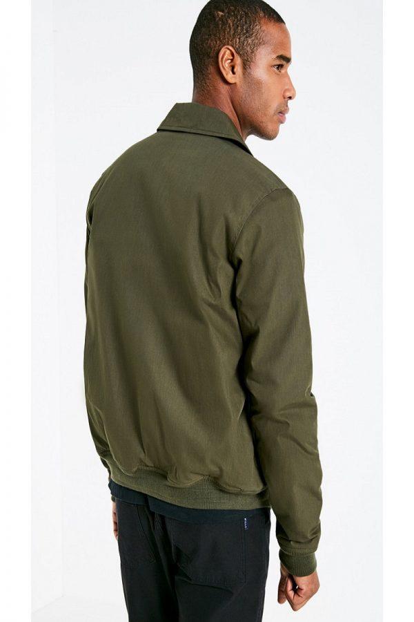 men olive green cotton jacket