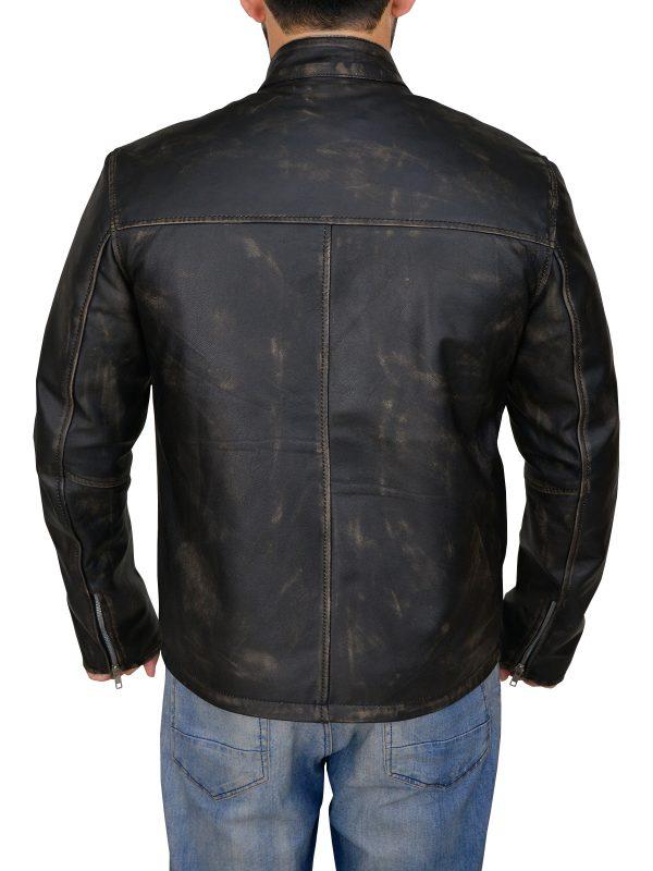 mauvetree men cafe racer jacket, men stylish cafe racer leather jacket,