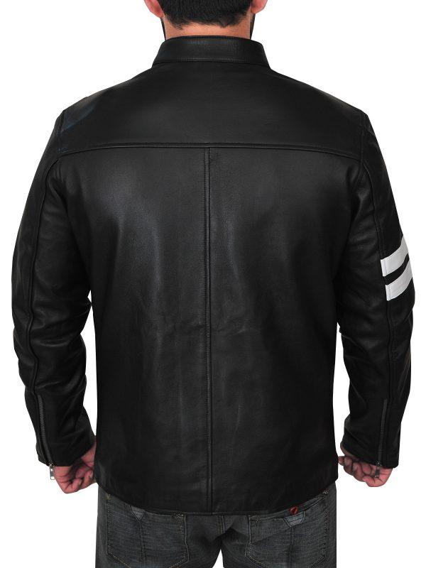 mauvetree john tanner leather jacket, mauvetree black driver leather jacket,
