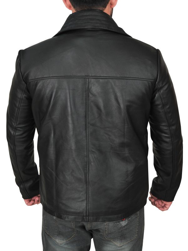 mauvetree men real leather jacket, mauvetree men leather jacket in black,