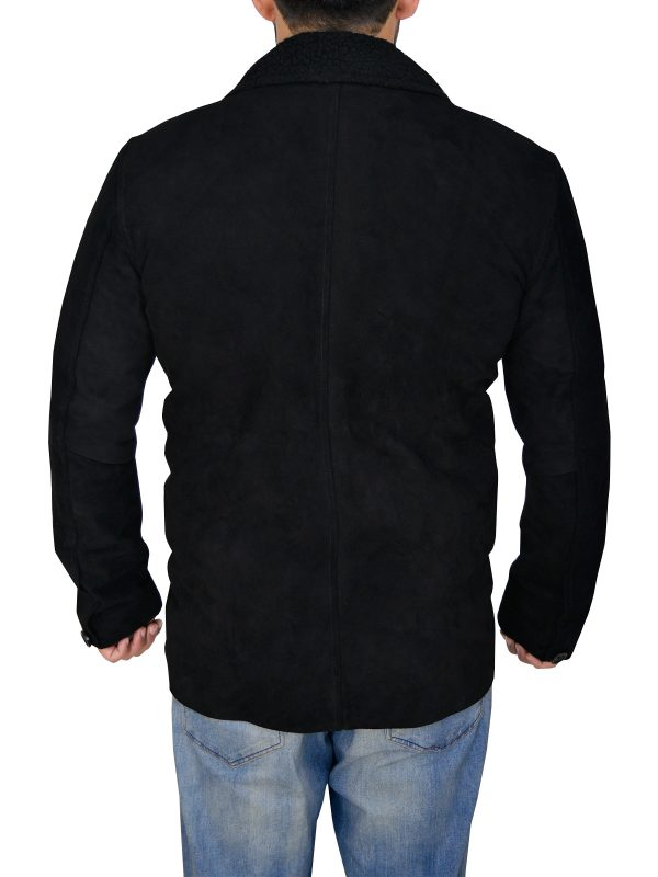 mauvetree men suede black leather jacket, mauvetree suede leather jacket for men,