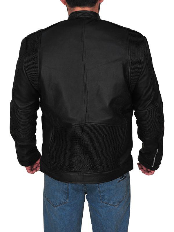 mauvetree fashionable men black leather jacket, mauvetree stylish black leather jacket for men,