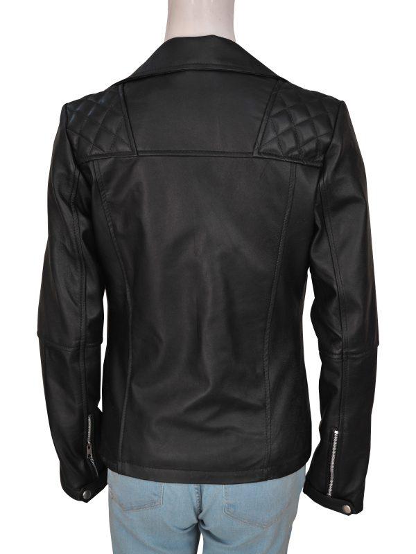 mauvetree black biker jacket for women, mauvetree women motorcycle black leather jacket,