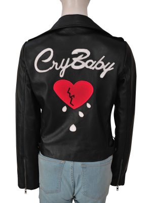mauvetree cry baby leather jacket, mauvetree cry baby leather jacket for women,
