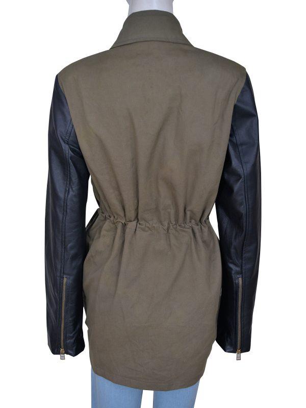 mauvetree women army green jacket, mauvetree military green women jacket,