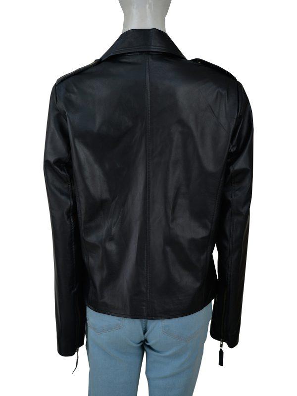 mauvetree black leather jacket for women, mauvetree black moto leather jacket for women,