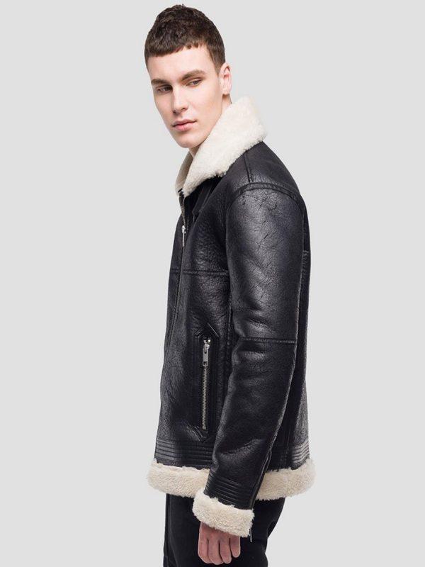 men b3 shearling leather jacket