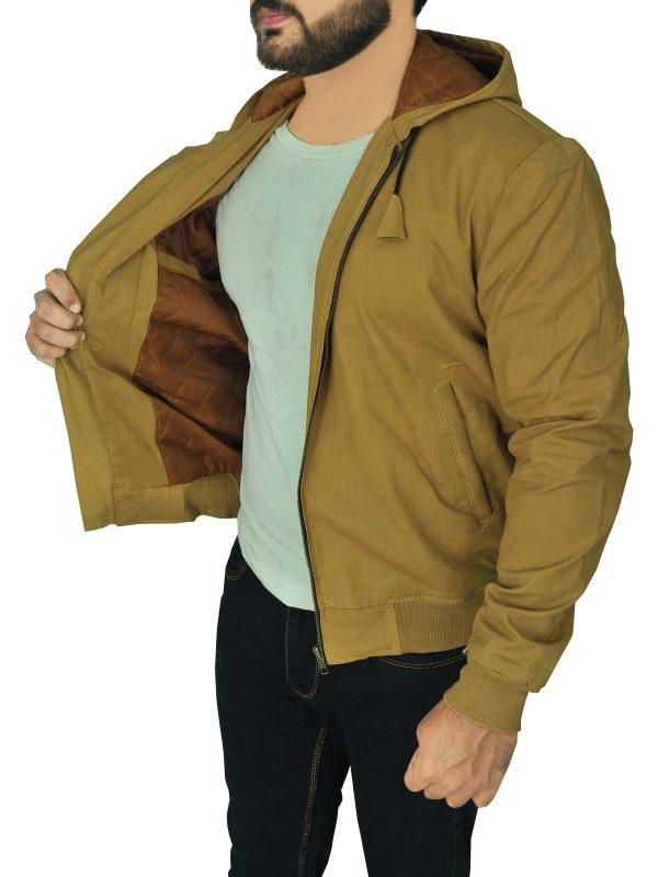 dashing brown hoodie jacket for men, men stylish brown hoodie jacket,