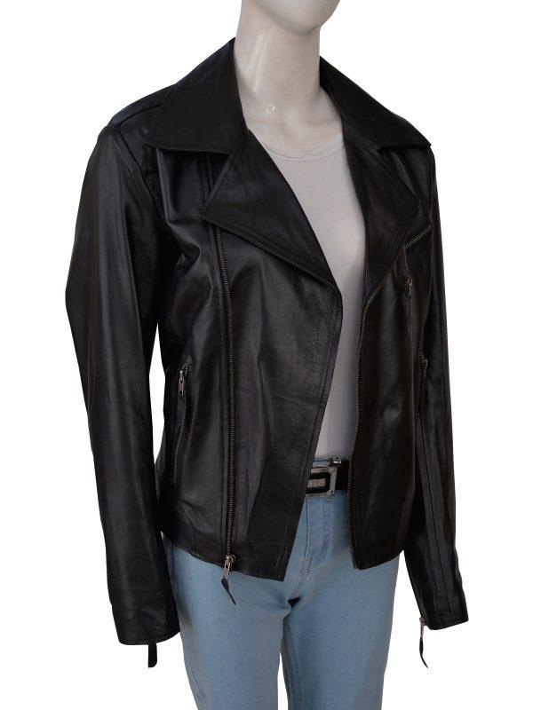 fashionable women black moto leather jacket, perfect black moto leather jacket for women,