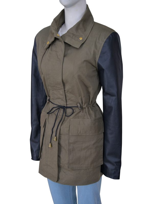 fashionable army style women jacket, army style women green jacket,
