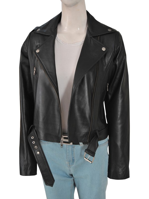 women black cry baby leather jacket, black cry baby leather jacket,