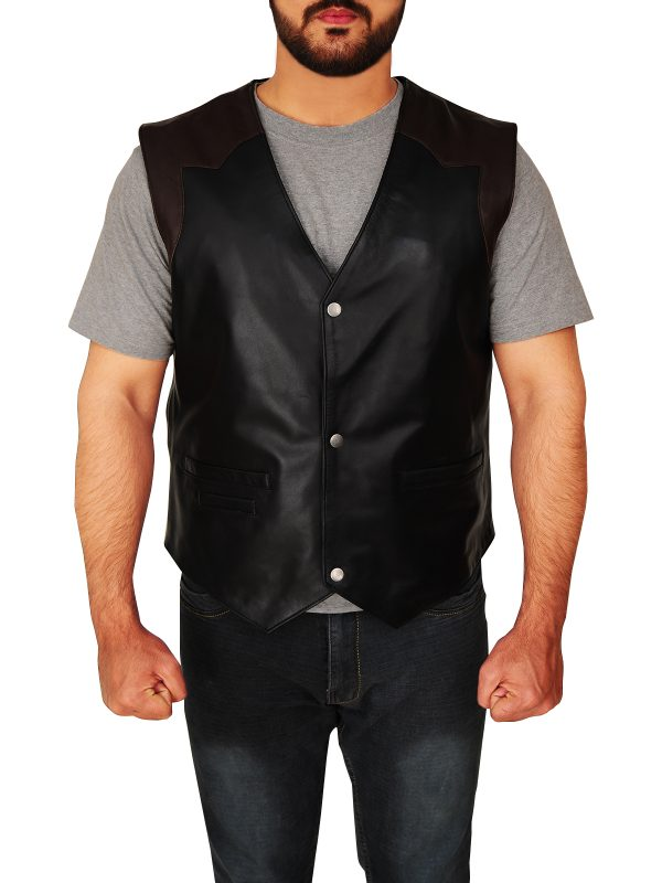 street style cowboy leather vest, cowboy leather vest for men,