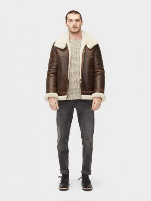 stylish men brown b3 jacket