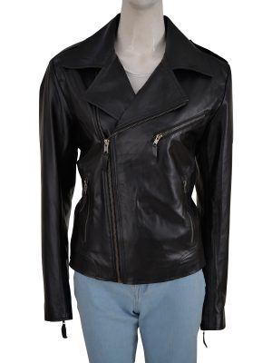 girl black moto leather jacket, black moto leather jacket for women,
