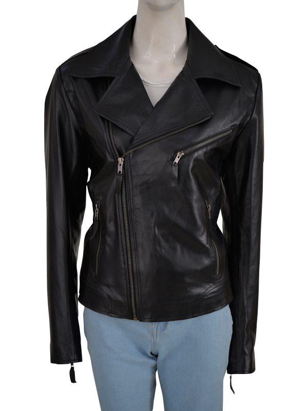 girl black moto leather jacket, black moto leather jacket for women,