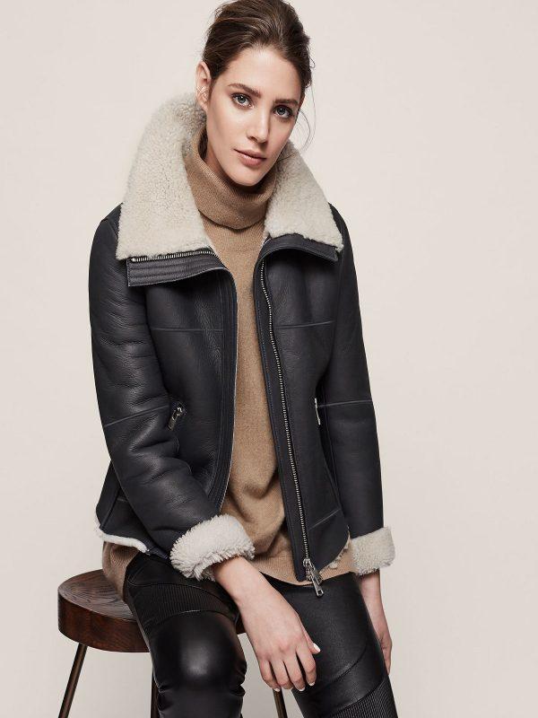 women sheepskin jacket