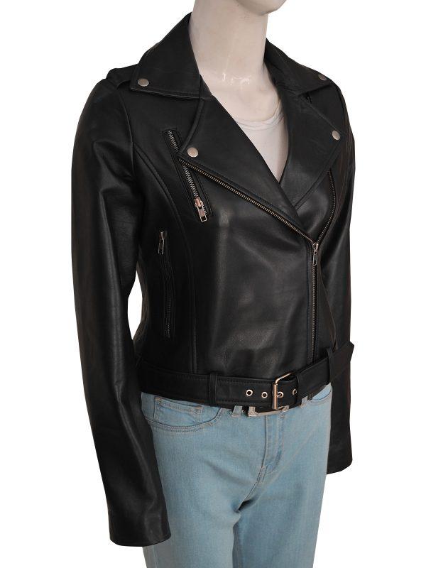 stylish cry baby leather jacket, fashionable cry baby leather jacket for women,