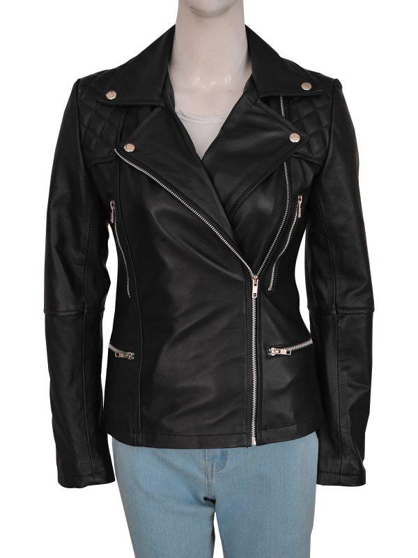 women black brando leather jacket, street style women black biker leather jacket,