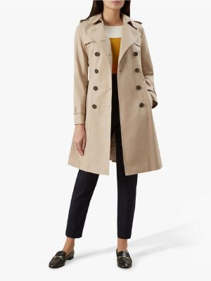 women brown trench