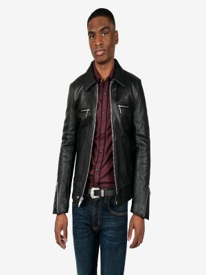 stylish biker leather jacket