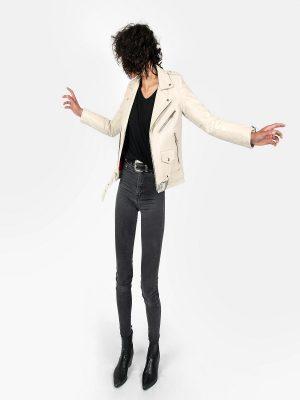 women white leather ajcket